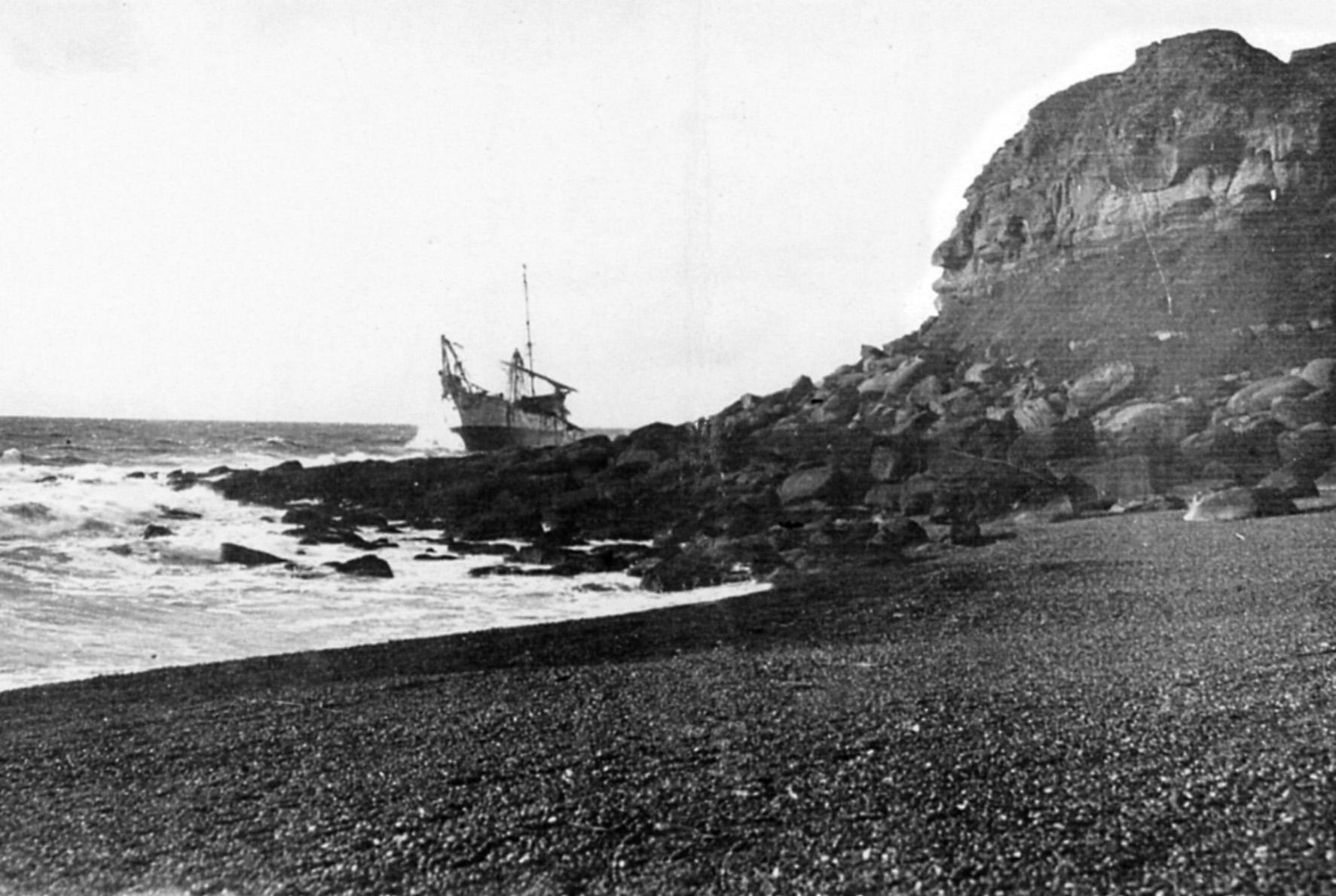 Le navire Bossuet en facheuse posture au cran aux Oeufs