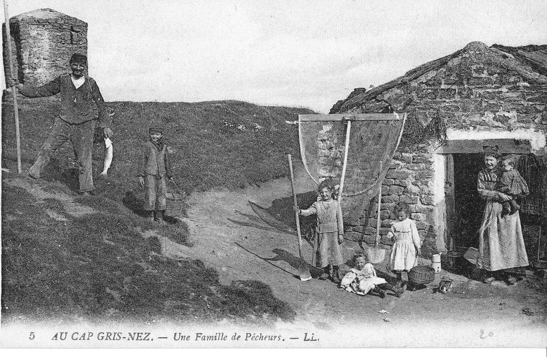 Une famille de pêcheurs au Cap Gris Nez