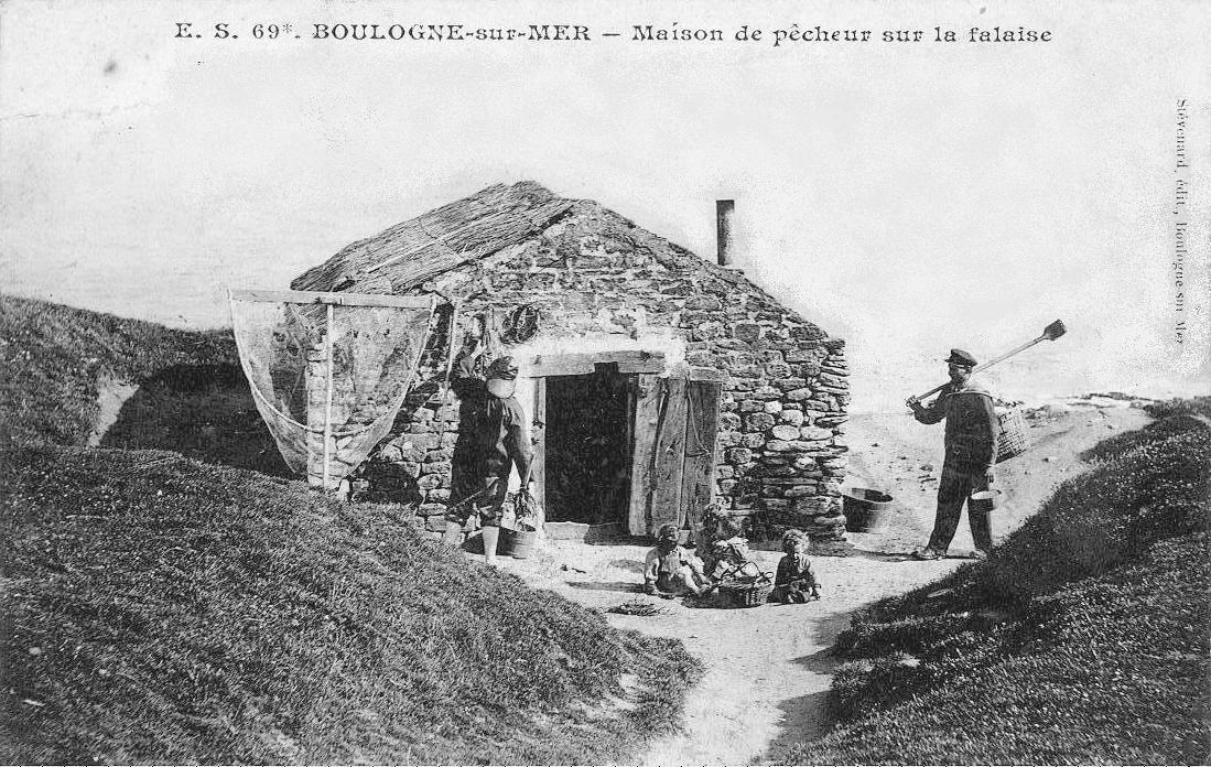 Maison de pêcheur sur la falaise au Cap Gris Nez