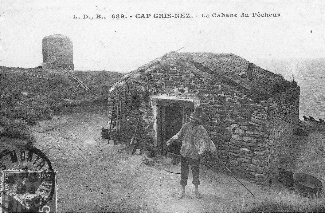 La cabane d'un pêcheur au Cap Gris Nez