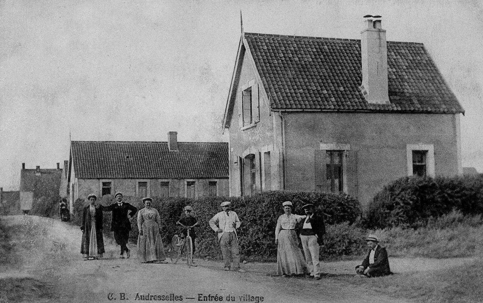 Audresselles l'entrée du village