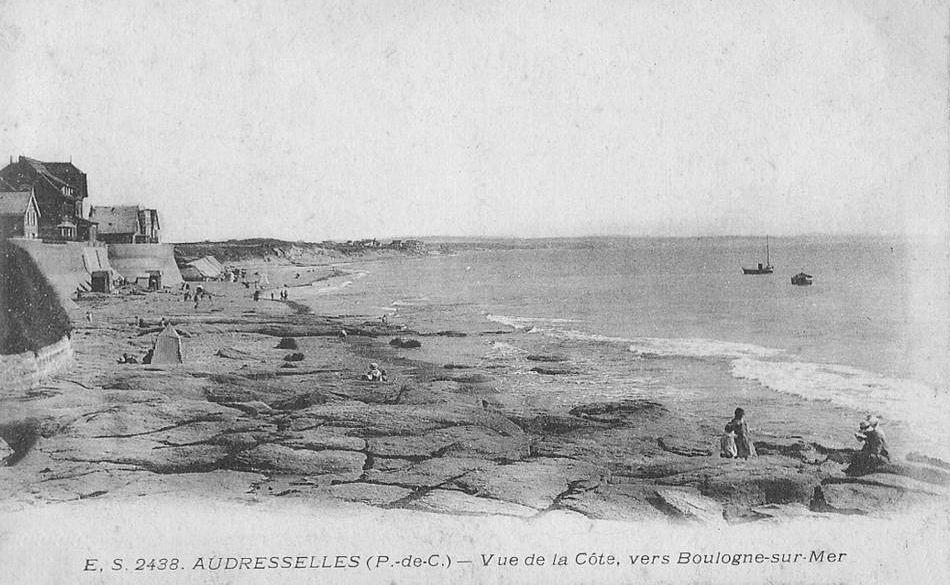 Audresselles - vue de la côte vers Boulogne sur mer