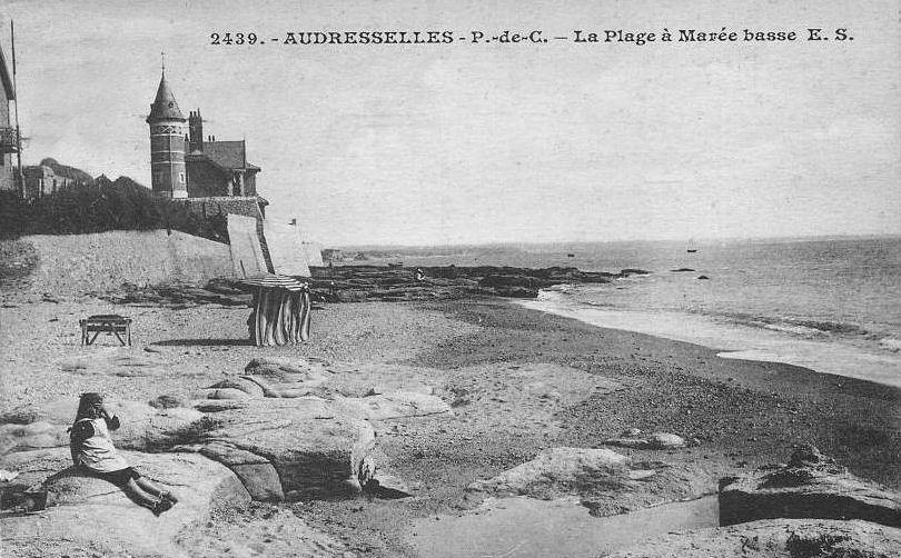 Audresselles la plage à marée basse