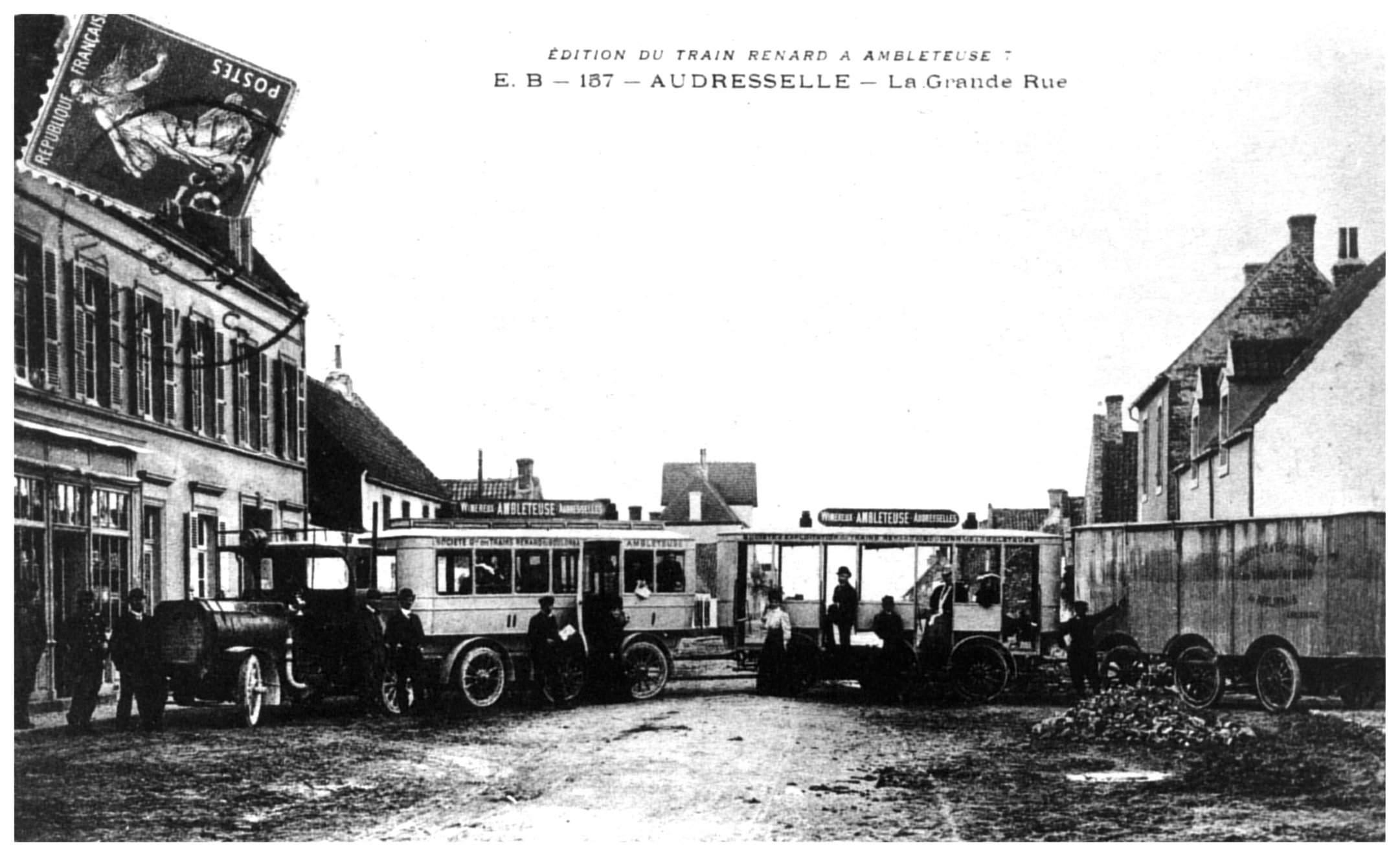 Audresselles - le train Renard dans la Grand Rue