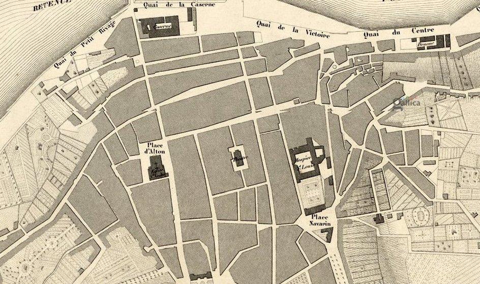 plan de boulogne sur mer en 1850