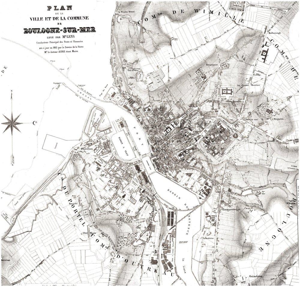 plan cue Boulogne-sur-Mer