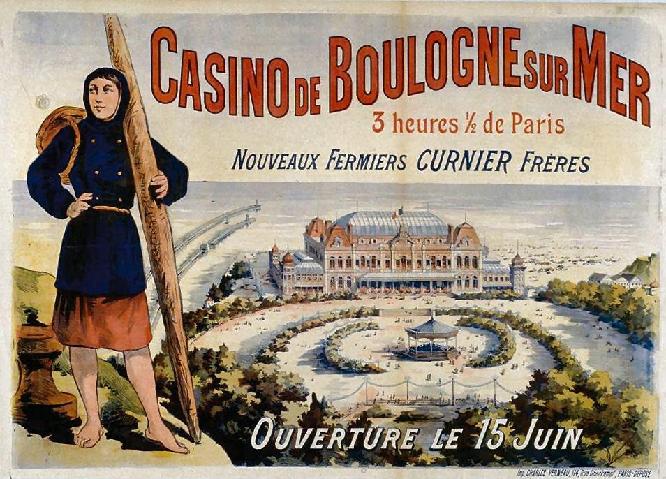 Affiche publicitaire Casino de Boulogne sur mer