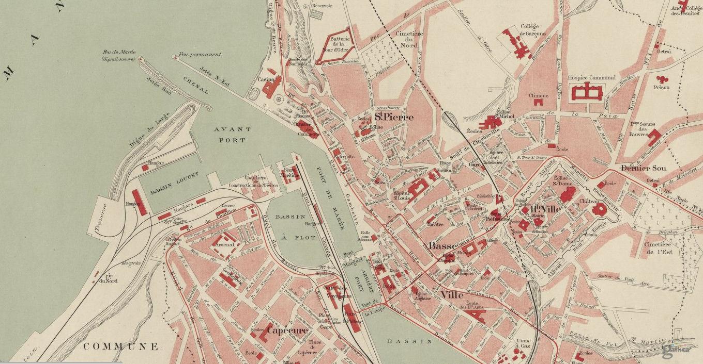 Plan De Calais Centre Ville