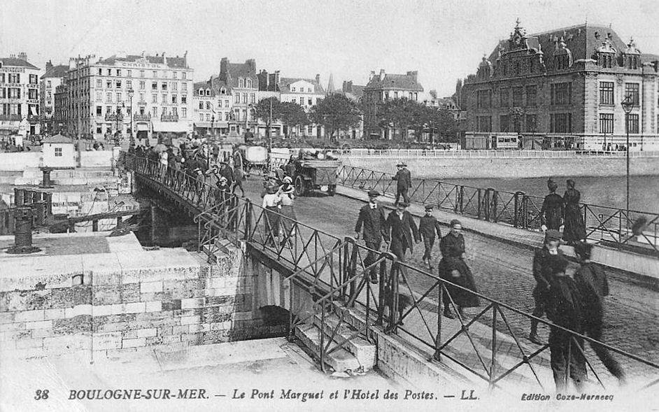 Boulogne sur mer - le pont Marguet et l'hôtel des Postes