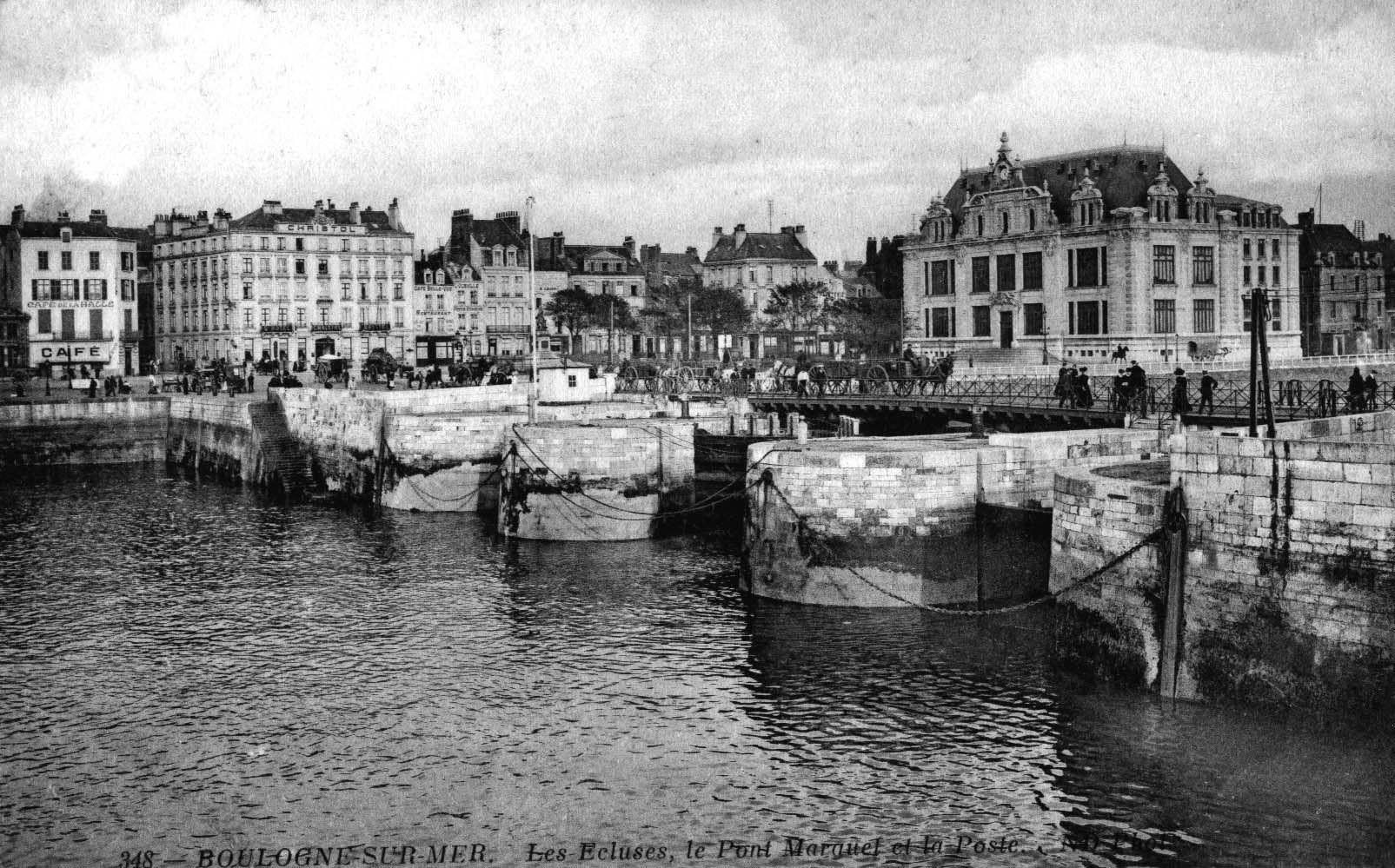 Boulogne sur mer - les écluses du pont Marguet