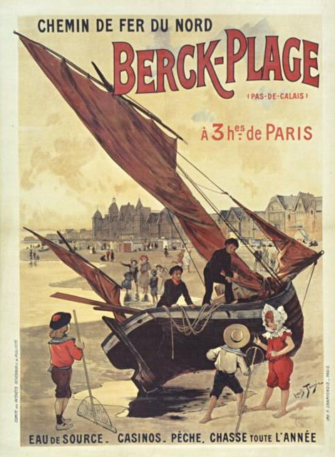 Affiche chemin de fer du Nord Berck Plage