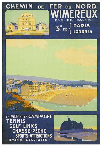 Affiche Chemin de fer du Nord Wimereux