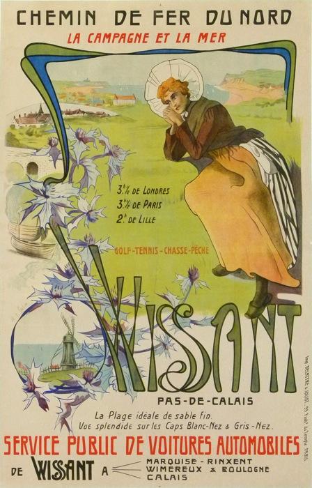 Affiche Chemin de fer du Nord Wissant