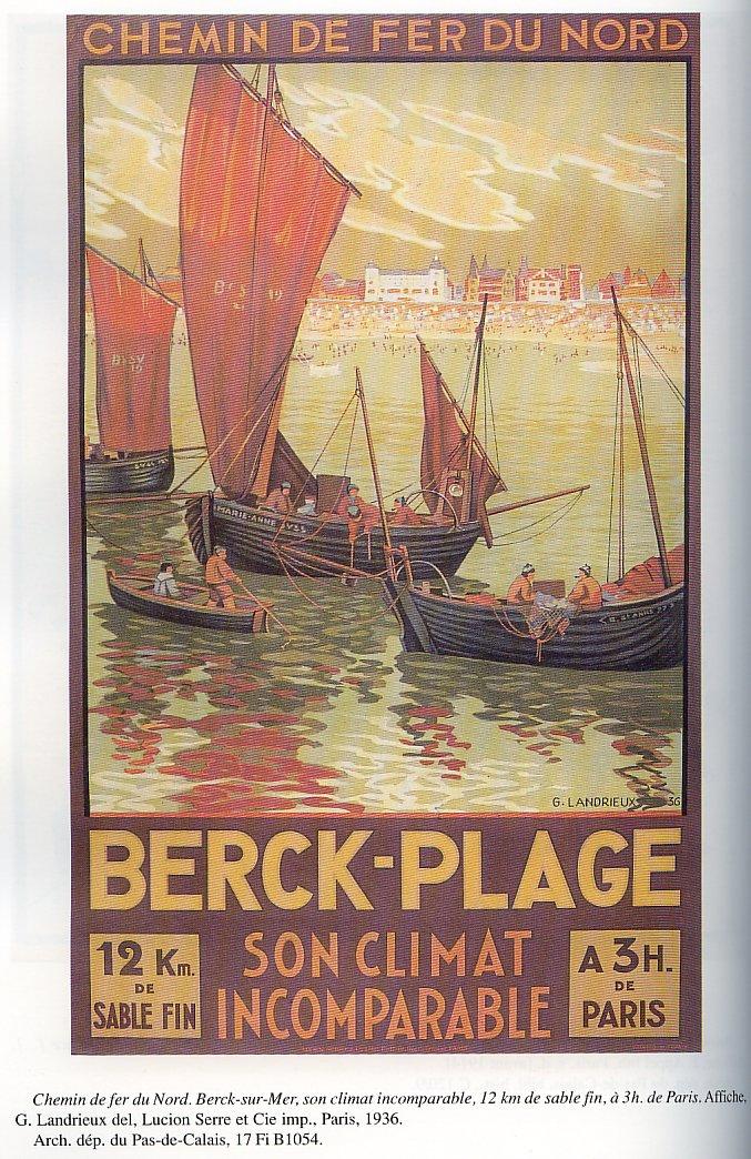 Affiche Chemin de fer du Nord Berck-Plage