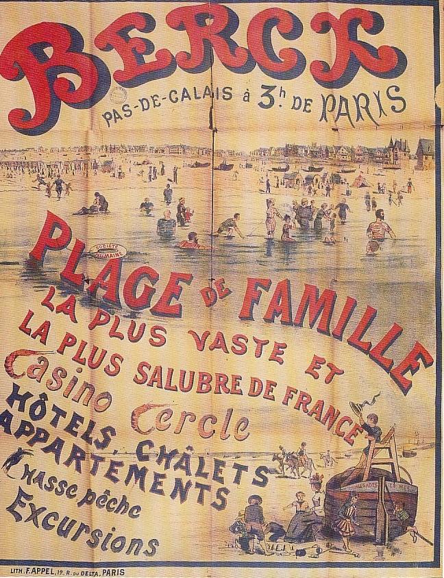 Affiche Berck et sa plage