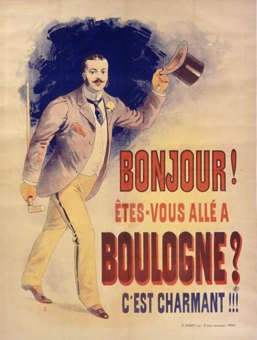 """Affiche publicitaire """"Etes vous allé à Boulogne sur mer"""""""