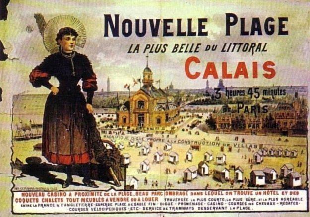 Affiche publicitaire Calais et sa belle plage