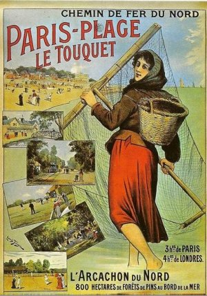 Affiche Chemin de fer du Nord Le Touquet Paris Plage