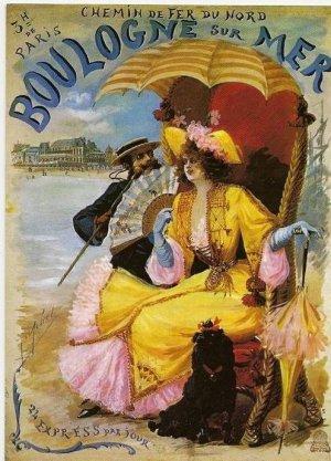 Affiche Chemin de Fer du NORD Boulogne sur Mer
