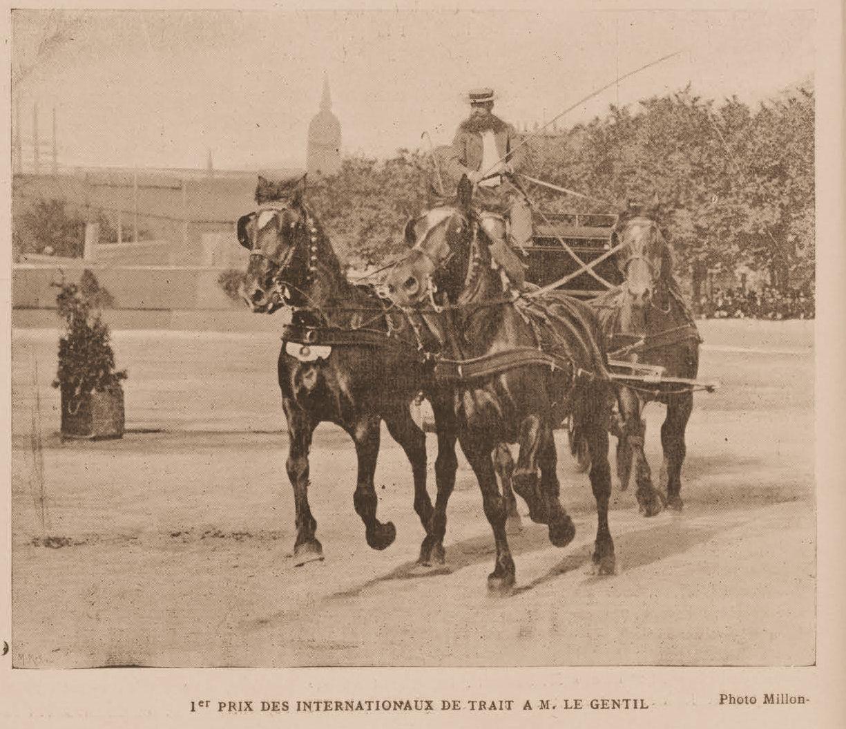 1e prix des internationaux de trait au concours hippique de 1901