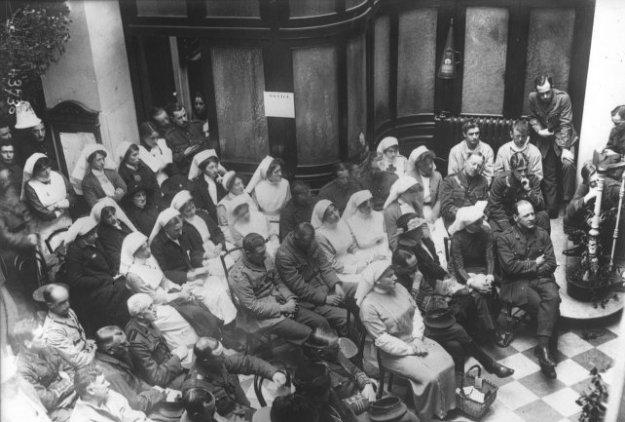 Guerre 1914 Blessés soignés à l'hôtel Christol de Boulogne