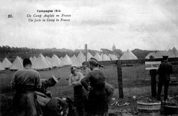 1914 The jocks in camp in France near Boulogne