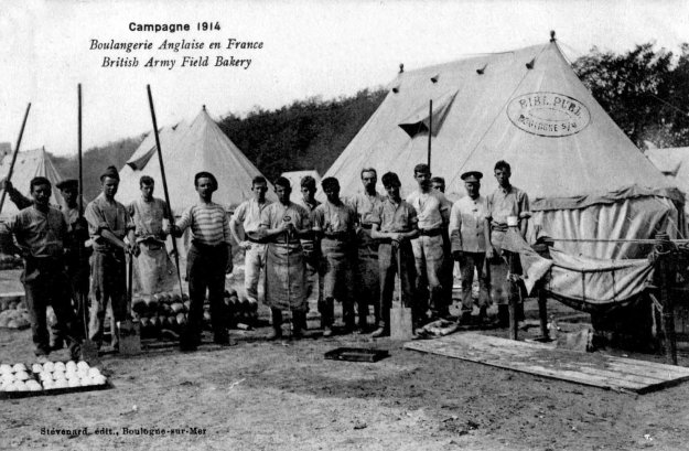 1914 The British Army field bakery in Boulogne