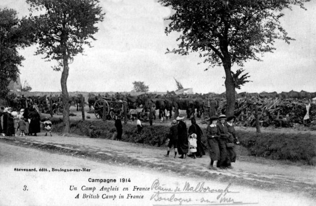 1914 A british camp near Boulogne