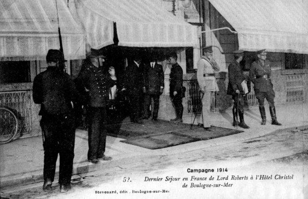 Guerre le dernier séjour de Lord Roberts à l'Hôtel Christol de Boulogne sur mer