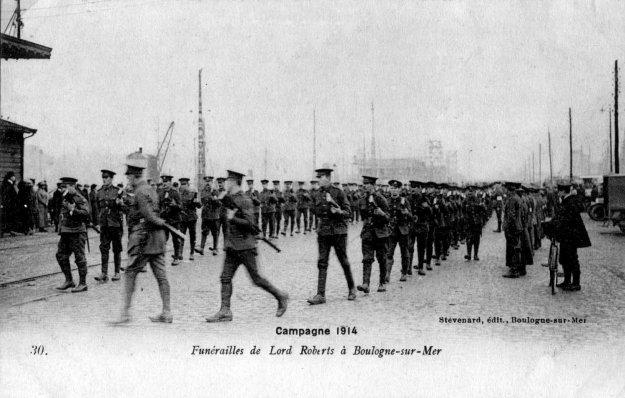 Guerre 14 Les funérailles de Lord Roberts à Boulogne sur mer