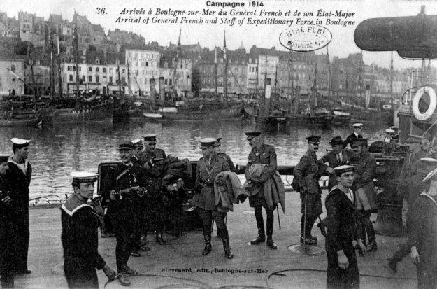 Guerre 14 Arrivée du Général French à Boulogne sur mer