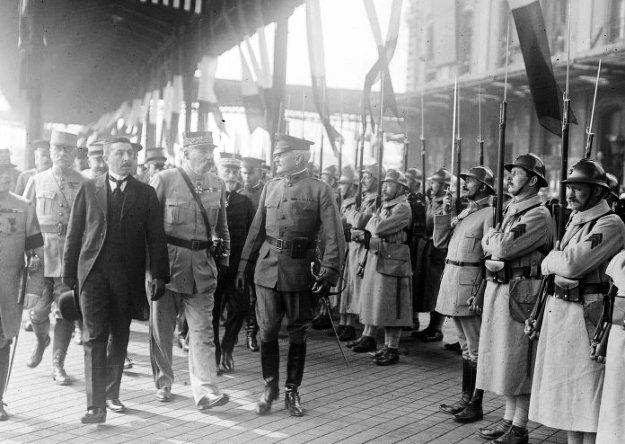 1917 Arrivée du Général Pershing à Boulogne sur mer