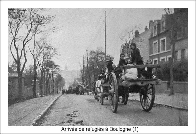 1914 Arrivée de réfugiés belges à Boulogne sur Mer