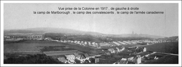 1917 Le camp de Marlborough , le camp des convalescents et le camp de l'armée canadienne à Boulogne sur mer