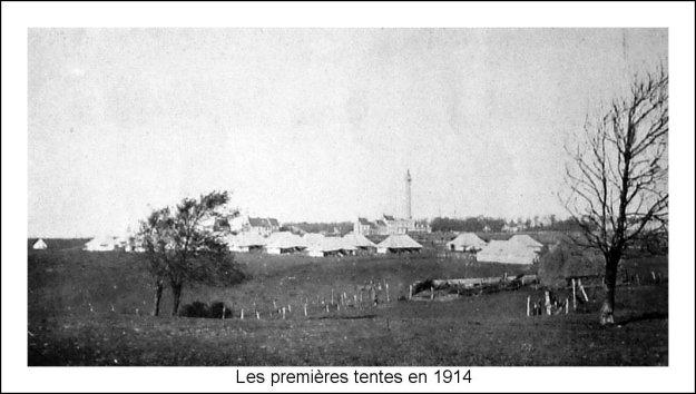 1914 Les premières tentes de l'armée anglaise à Boulogne