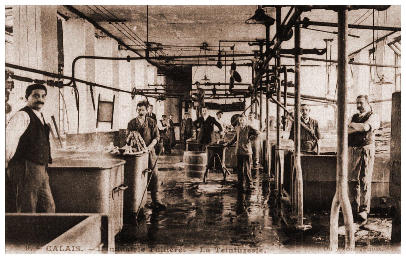 Calais - industrie de la dentelle - la teinturerie