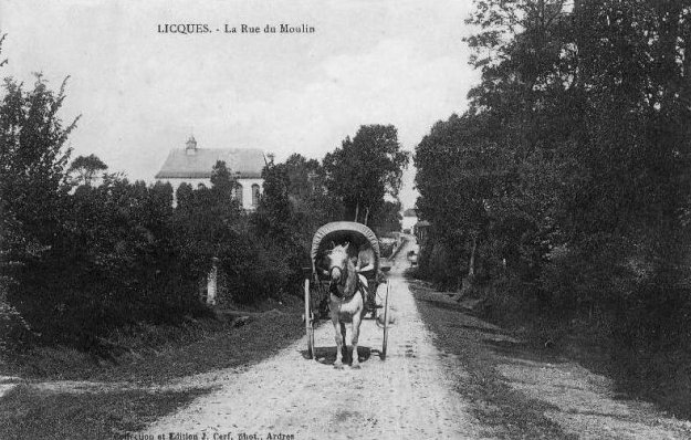 Licques - la rue du Moulin