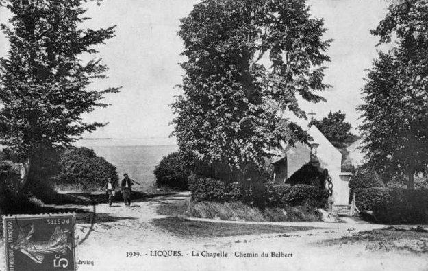 Licques - la chapelle et le chemin du Belbert
