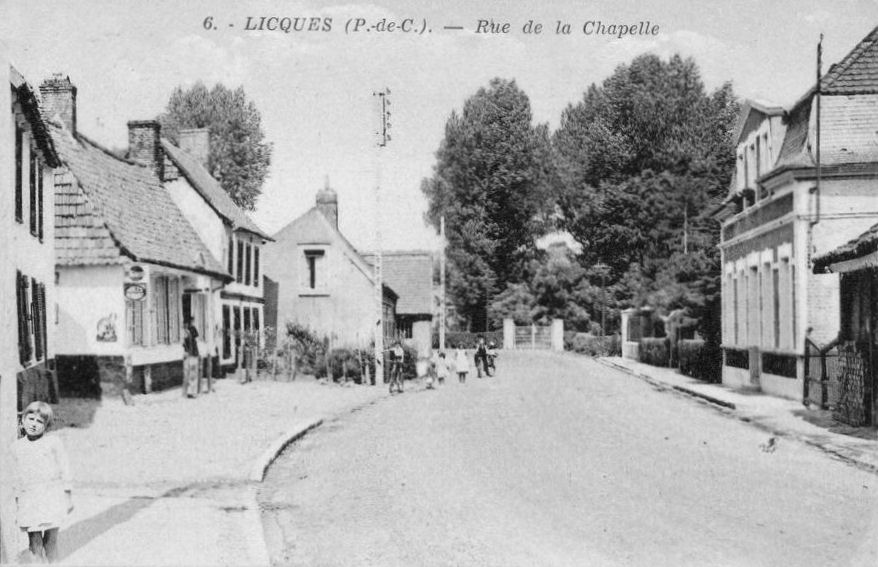 Licques - la rue de la Chapelle