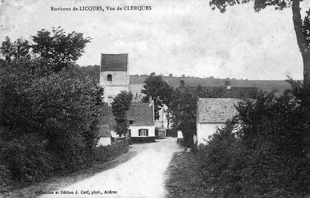 Environ de Licques - vue du village de Clerques