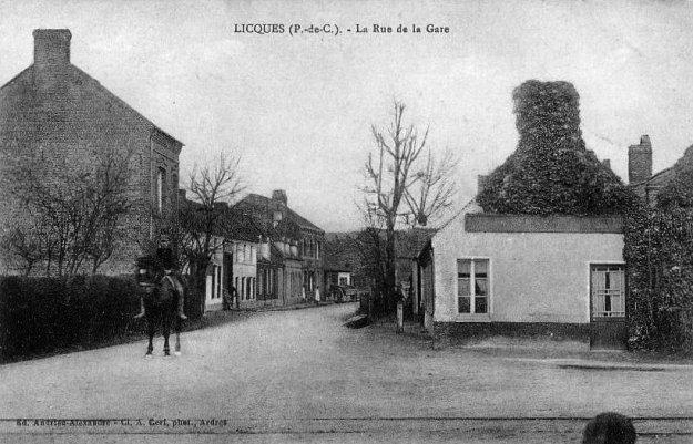 rue de la gare à Licques