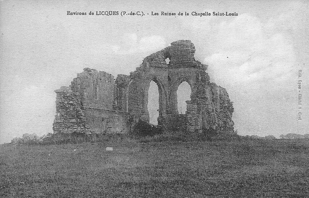 Environ de Licques - les ruines de la Chapelle Saint-Louis