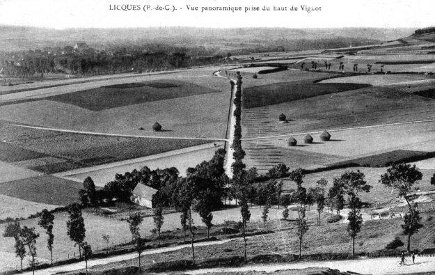 Vue panoramique prise du Vignot de Licques