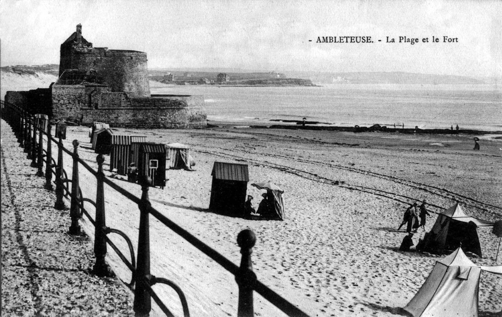 Ambleteuse - la plage et le fort