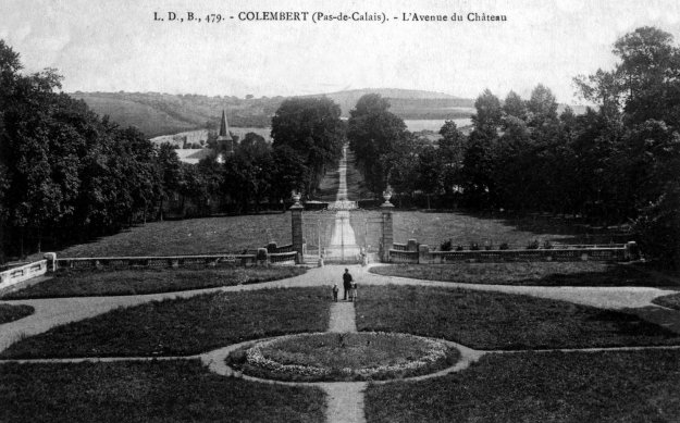 L'avenue du chateau de Colembert