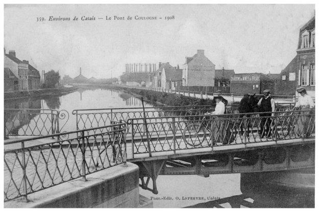 Le pont de Coulogne en 1908