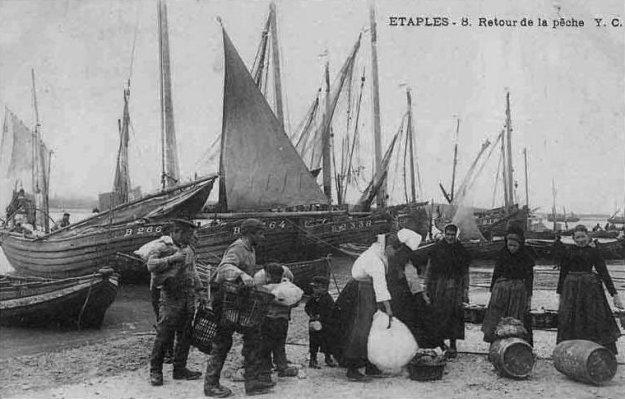 Etaples - retour de pêche