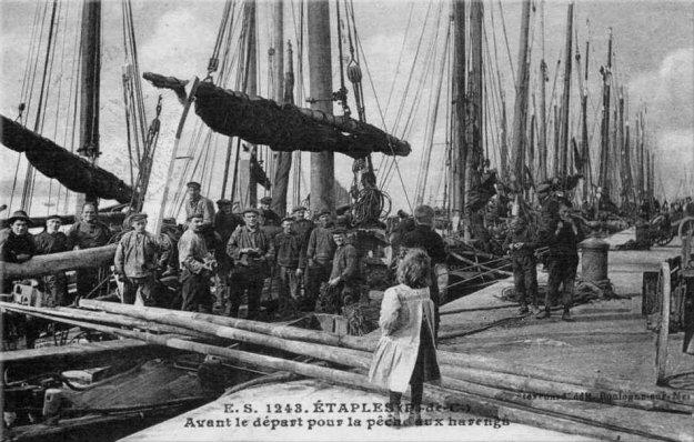 Etaples - avant le départ pour la pêche aux harengs