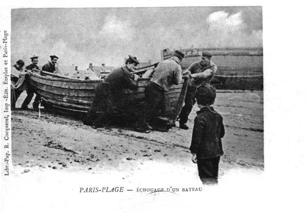 Etaples - échouage d'un bateau de pêche