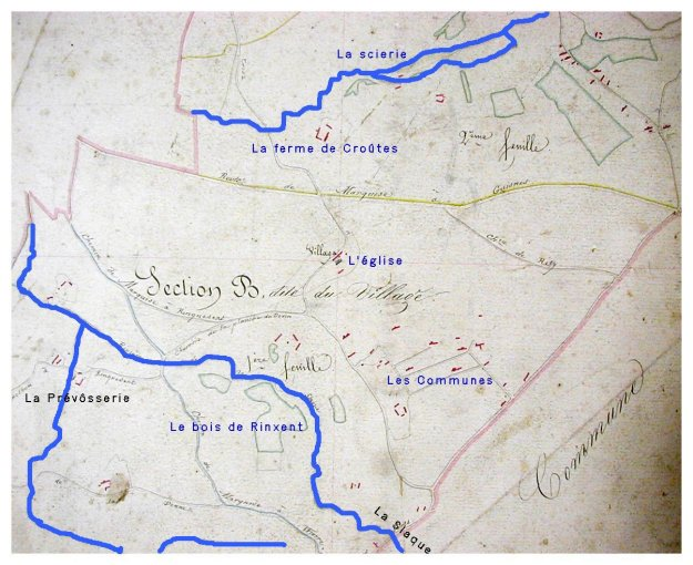 cadastre 1833 Rinxent Archives municipales